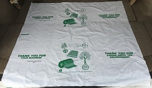 "NPLUS2065 36"" X 36"" ""THANK YOU FOR CARING""   WITH YOUR MESSAGE PRINTED POLY TRUNK LINERS CUT UP SHEETS PACKED 200/CASE"