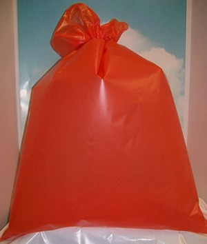 "A2056 25"" X 35"" X .002 ORANGE AUTOCLAVE POLY BAGS PACKED 200/CASE"