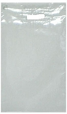 "T2087 15"" X 20"" CLEAR PATCH HANDLE POLY BAGS PACKED 500/CASE"