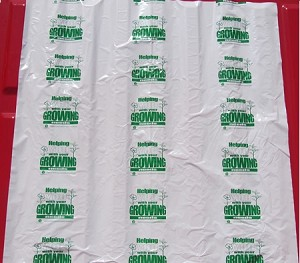 "N3014 36"" X 36"" ""GROWING NEEDS"" POLY TRUNK LINERS CUT UP SHEETS PACKED 200/CASE"