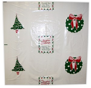 "N2012R 36"" X 36"" ""SEASONS GREETINGS"" POLY TRUNK LINERS ON ROLLS PACKED 200/ROLL"