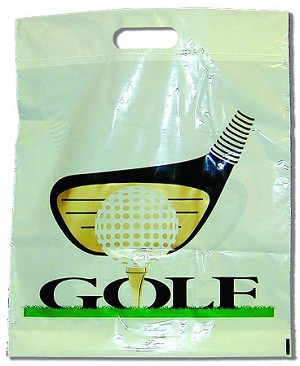 "G2023 15"" X 18"" ""GOLF CLUB"" HANDLE CUT POLY BAGS PACKED 250/CASE"