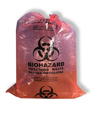 "S3656R 36"" x 56"" Biohazard Infectious Waste Bags Red (100) per Case"