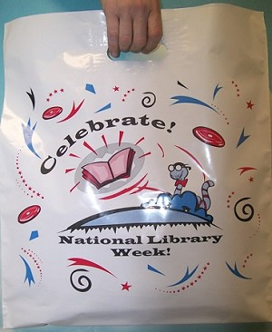 "L3505 16"" X 18"" X .003 CELEBRATE NATIONAL LIBRARY WEEK PACKED 250/CASE"
