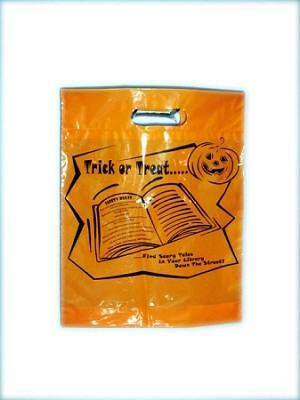 "L3548 12"" X 15"" ORANGE HALLOWEEN POLY BAGS PACKED 200/CASE"