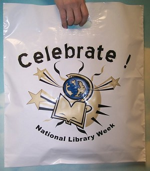 "L3660 16"" X 18"" X .003 CELEBRATE NATIONAL LIBRARY WEEK PACKED 250/CASE"