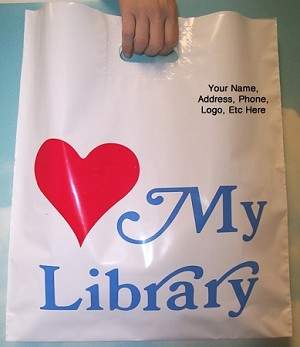 "L2035S LOVE MY LIBRARY WITH YOUR MESSAGE PRINTED IN A 3"" X 5"" AREA PACKED 250/CASE"