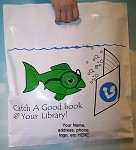 L3536S CATCH A GOOD BOOK POLY BAGS WITH YOUR MESSAGE PRINTED IN A 3