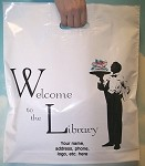 L3554S WELCOME TO THE LIBRARY POLY BAGS WITH YOUR MESSAGE PRINTED IN A 3
