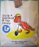 L3539S DIG UP A  GOOD BOOK POLY BAGS WITH YOUR MESSAGE PRINTED IN A 3