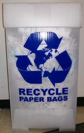 "R5000PA Recycle Bin 20 1/4"" x 17"" x 38 1/4"" For Paper"