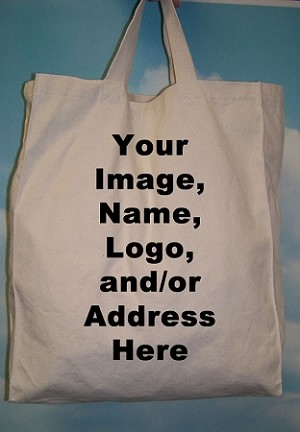 "SD1316CP 13"" X 16"" CUSTOM PRINTED COTTON TOTE BAG"