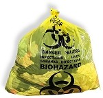 "S3656Y 36"" x 56"" Biohazard Infectious Linen Bags Yellow (100) per Case"